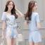Lady Ribbon ออนไลน์ เสื้อผ้าออนไลน์ พร้อมส่งของแท้ SV07130716 &#x1F389Sevy Two Pieces Of Nail Design Blouse with Shorts Sets thumbnail 1