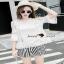 เสื้อผ้าแฟชั่นเกาหลีเซ็ทหวานๆ แบบสาวชิลล์ เสื้อเนื้อผ้าสวย thumbnail 1