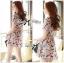 Lady Ribbon Online ขายส่งเสื้อผ้าออนไลน์ เลดี้ริบบอน LR20280716 &#x1F380Lady Ribbon's Made&#x1F380Lady Lana Flower Print A-Line Dress เดรสแขนสั้น thumbnail 3