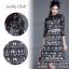 ST10310716 &#x1F340สินค้าพร้อมส่ง&#x1F340 한국에 의해 설계된 2Sister Made, Eastern Style Dress with Belt เดรสลุคเรียบหรู เนื้อผ้าผสมsilkหนาเกรดดี พิมพ์ thumbnail 2