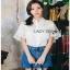 Lady Ribbon Lace and Chiffon Shirt ขายส่งเชิ้ตผ้าชีฟอง thumbnail 4