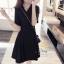เสื้อผ้าแฟชั่นชุดเดรสเกาหลีผ้ายืด thumbnail 2