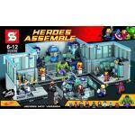 เลโก้จีน SY 368 ชุด Super Heroes Avengers Lab