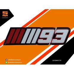 สติ๊กเกอร์ 93 Sticker 93 1 ชิ้น ขนาด 3 x 10 ซม.