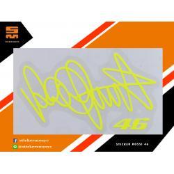 สติ๊กเกอร์ Rossi 46 Sticker Rossi 46 สีเหลือง 1 ชิ้น ขนาด 4 x 7 ซม.