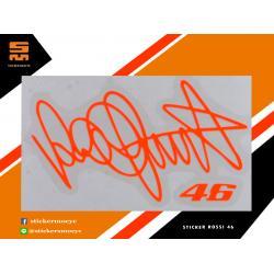 สติ๊กเกอร์ Rossi 46 Sticker Rossi 46 สีส้ม 1 ชิ้น ขนาด 4 x 7 ซม.