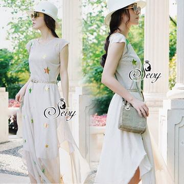 Lady Ribbon ออนไลน์ เสื้อผ้าออนไลน์ พร้อมส่งของแท้ SV02130716 &#x1F389Sevy Rising Star Knit Dress