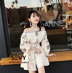 Mini dress เสื้อผ้างานปักผ้าฝ้าย