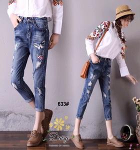กางเกงยีนส์แฟชั่นฮ่องกงเกาหลี
