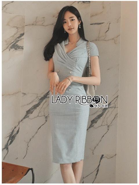 Dress Lady Ribbon เดรสผ้าสูท