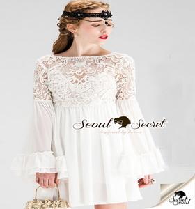 เสื้อผ้าแฟชั่นเดรสเกาหลีลุคเจ้าหญิง ทรงสวยดูผู้ดี