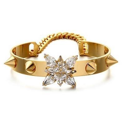 AD1617 - สร้อยข้อมือ,กำไลข้อมือ,กำไล,สร้อยข้อมือทอง,กำไลทอง,เครื่องประดับ punk style rivet bracelet