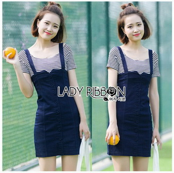 T-Shirt with Overall Dress