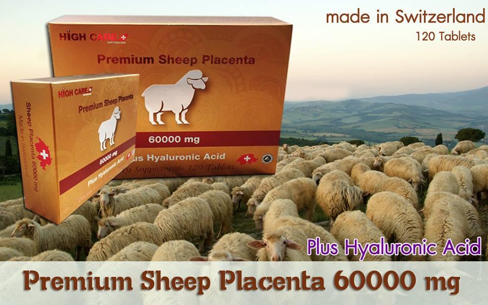 High Care Premium Sheep Placenta 60000 Plus Hyalunic Acid (120 Tablets)