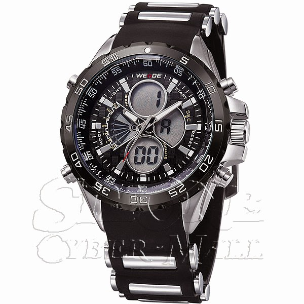 WEIDE – WH-1103-1B: Dual Time Dual System Alarm Chronogragh Sport Watch