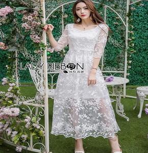 Lady Ribbon Eves Princess Style Dress ยาวขายส่งเดรสผ้า