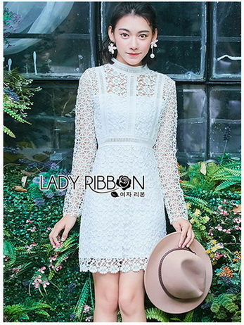 Lady Evelyn Pale light green Lace Mini Dress
