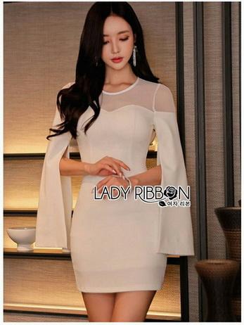 Lady Claire Sexy & Classy White Body-Con Dress