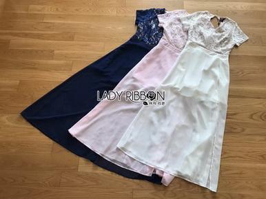 Lace Jumpsuit with Chiffon Dress จัมป์สูทขาสั้น
