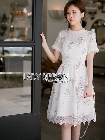 Lady Katie Sweet White Mini Dress