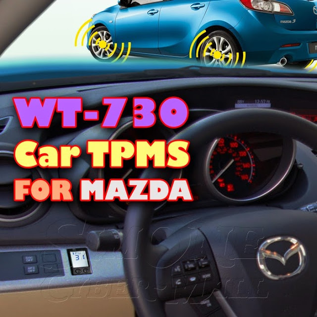 ROYCEED WT730 Car TPMS With Miniature Monitor For MAZDA