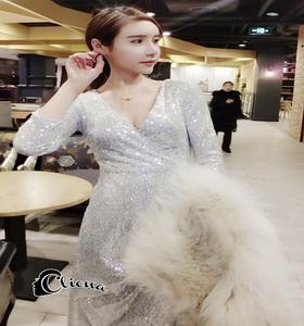 ชุดเดรสเกาหลี เสื้อผ้าเกาหลีสีเงิน