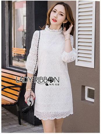 Lady Diamond Sweet White Lace Dress