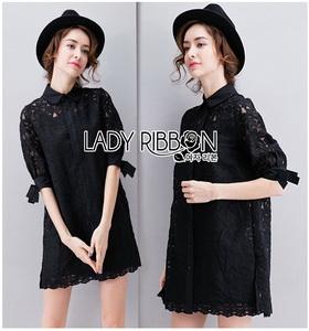 Lady Ribbon Shirt Dress