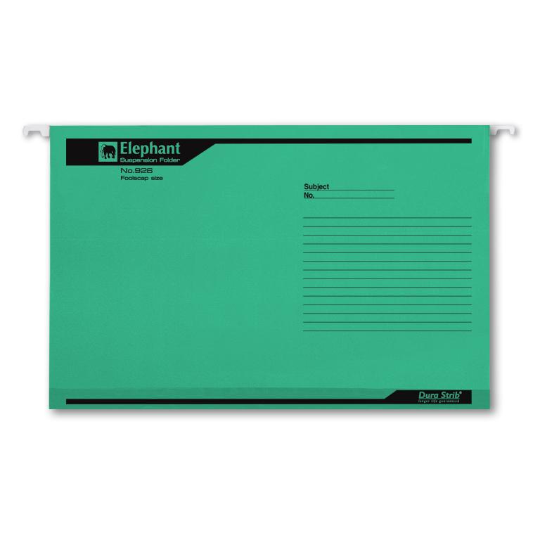 แฟ้มแขวนตราช้าง รุ่น 926 สีเขียว (บรรจุ 10 เล่ม)