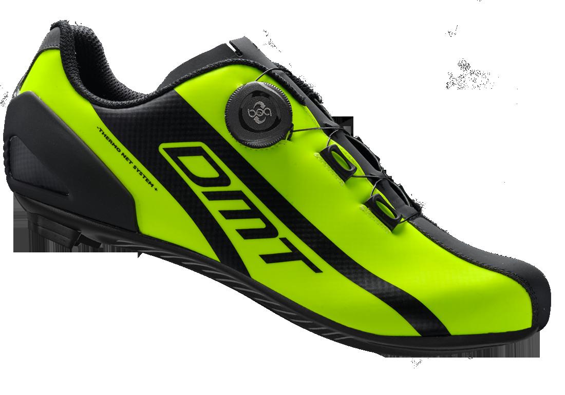 รองเท้าเสื้อหมอบ DMT R5 สีเขียว (Yellow Fluo)