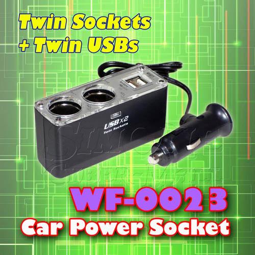 WF-0023 - Twin Power Socket & Twin USB