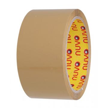 """ืีnuvo Tape สีน้ำตาล 2"""" x 100 หลา (แพ็ค 6)"""