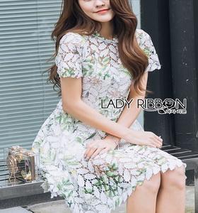 Lady Ribbon Lizzy Lace Mini Dress