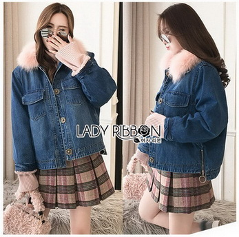 Lady Ribbon Denim Jacket