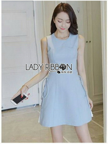 Lady Megan Lace-Down A-Line Baby Blue Dress