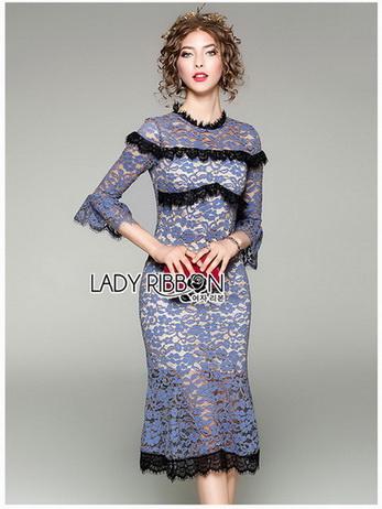 Lilac Lace Mermaid Dress