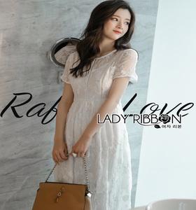 Lady Ribbon Sara Sweet Basic White Lace Dress