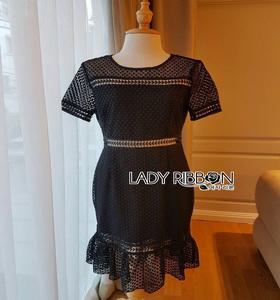 Lady Ribbon Chloe Ruffle Midi Dress