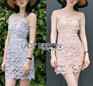 Lady Ribbon Grace Feminine Lace Dress