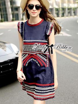 Lady Ribbon ขายส่งเสื้อผ้าออนไลน์พร้อมส่งของแท้ LR03220716
