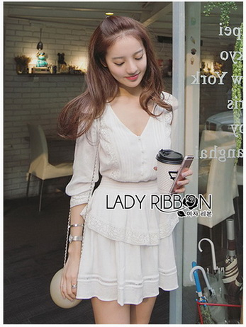 Lady Rosie Layered Lace and Chiffon Mini Dress