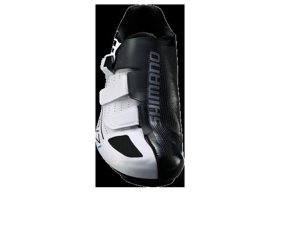 รองเท้าจักรยานเสือหมอบ Shimano R171 พื้นคาร์บอน สีขาว