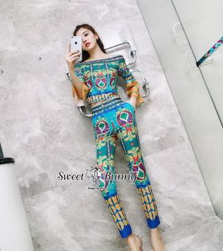 เซ็ทเสื้อ+กางเกงงานเกาหลี