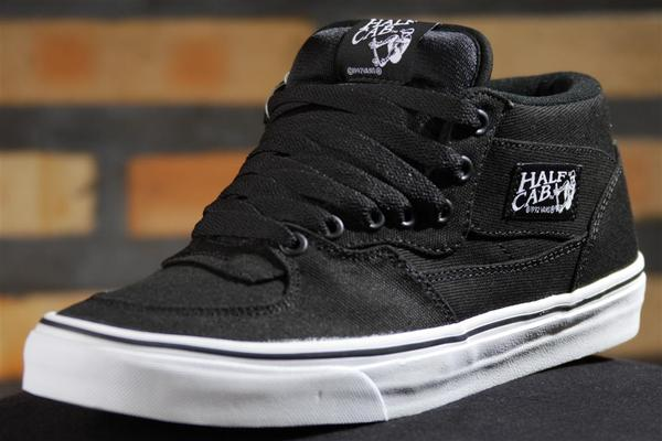 vans half cab 14 oz canvas