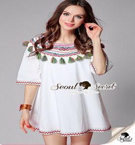 เสื้อผ้าแฟชั่นเกาหลีเก๋ๆ ลุคสาววินเทจ เสื้อทรงสวยด้วยเสื้อตัวยาว