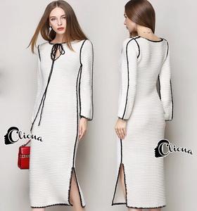 Cliona Dress - เดรสไหมพรมคาดิแกนสีขาวสุดนุ่ม