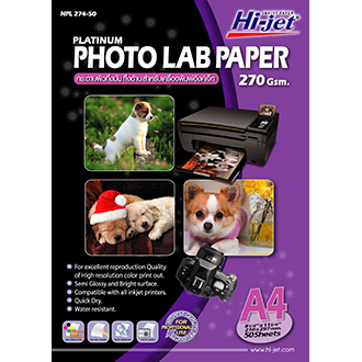 Hi-jet LAB PHOTO PAPER 270 gsm.
