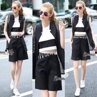 Lady Ribbon Online เสื้อผ้าออนไลน์ขายส่ง Normal Ally เสื้อผ้า NA07180816 &#x1F389Normal Ally Present elegance Blazer top model set&#x1F389