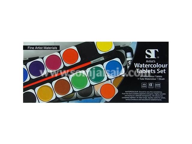 ST Watercolour 12 Tablets Set