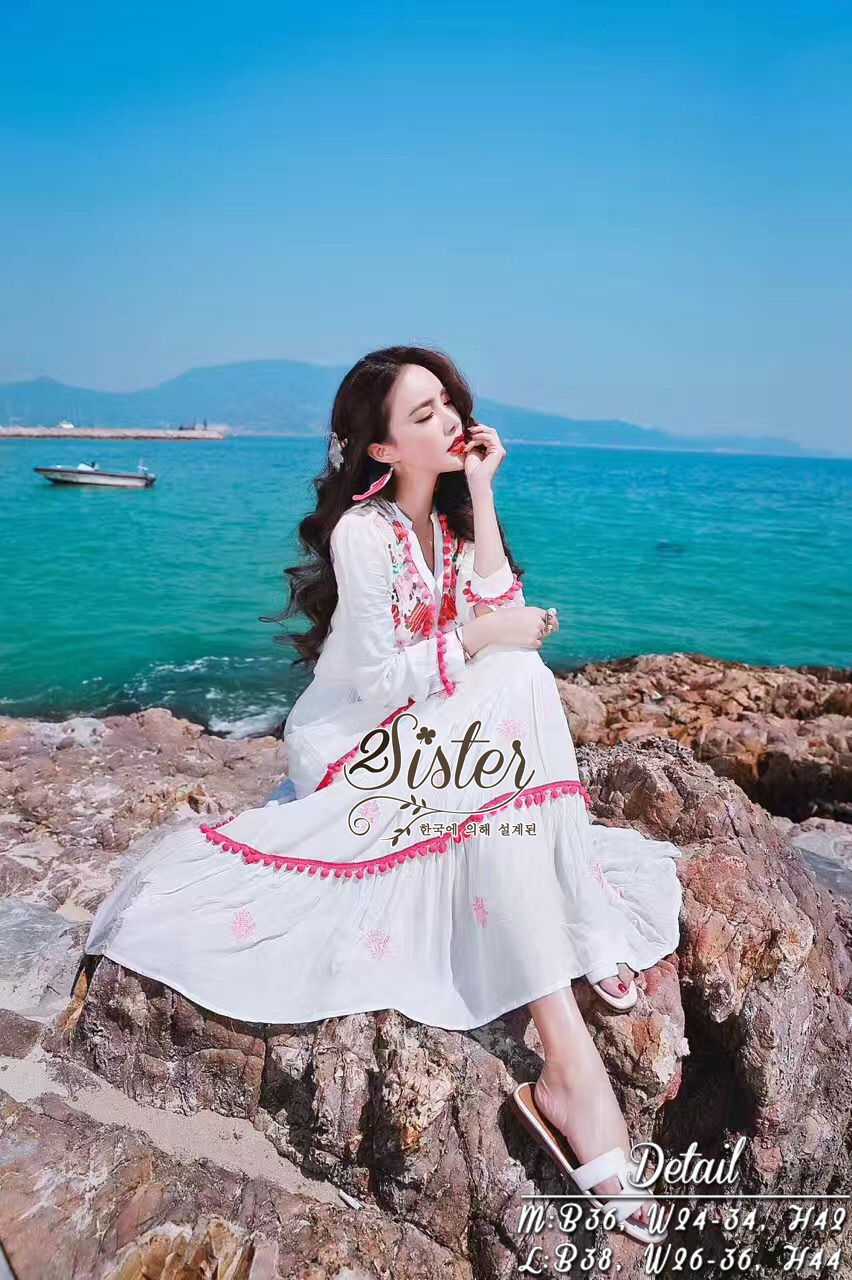 Adorable Lovely Elegant Korea Sweet Maxi Dress